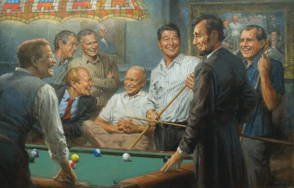 republican presidents playing pool