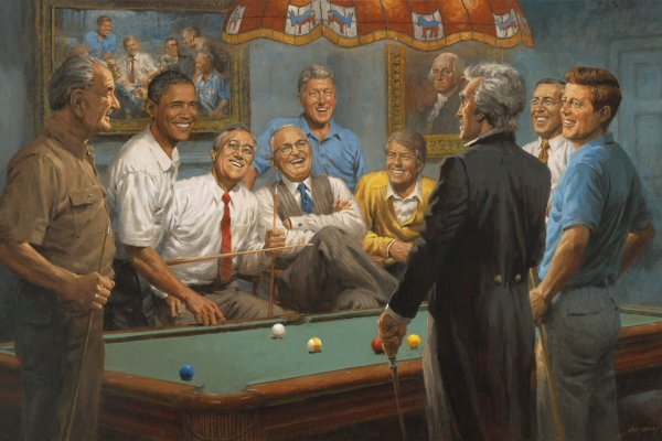 democrats playing pool
