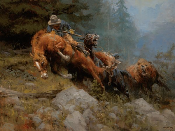 Grizzly Mountain By Andy Thomas Cv Art And Frame