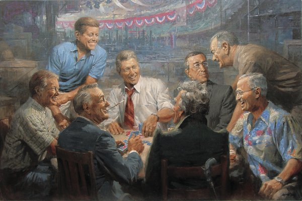 democrat presidents playing poker