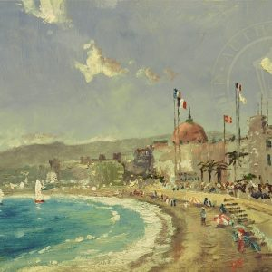 Beach at Nice by Thomas Kinkade