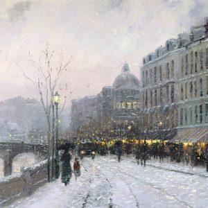 Evening on the Seine by Thomas Kinkade