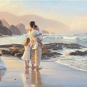 father-daughters-ocean
