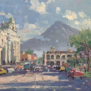 Antigua Sunset Guatemala by Thomas Kinkade
