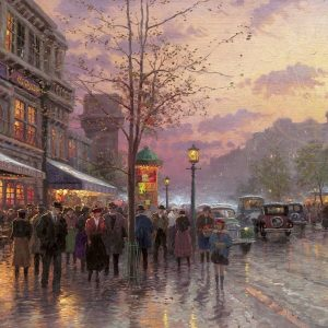 Boulevard Lights, Paris by Thomas Kinkade