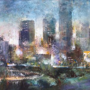 original-oil-painting-expressionist-city