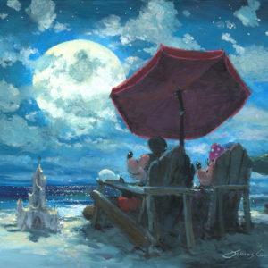 disney-art-mickey-minnie-seaside-evening
